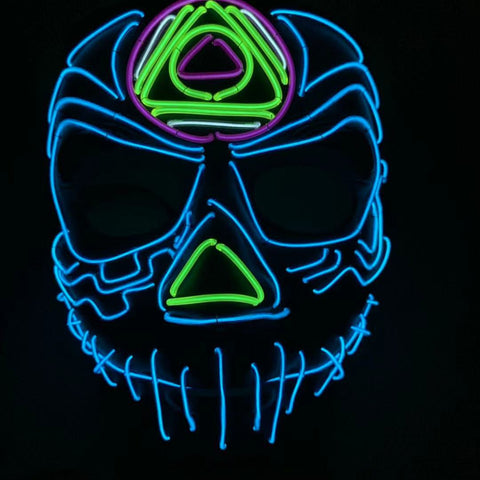 Jack Skellington LED Rave Glow Mask