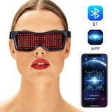 Programmable LED neon Culture glow glasses