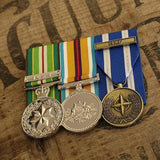 AASM-ICAT / Afghanistan NATO Trio-Popular Medal Groups-Foxhole Medals