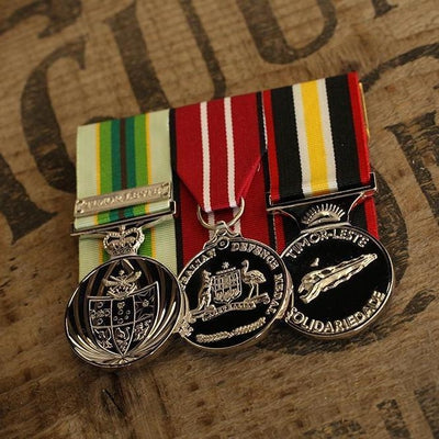 ASM / ADM / Timor Leste Solidarity Trio-Popular Medal Groups-Foxhole Medals