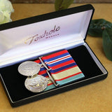 Cased WW2 Duo-Popular Medal Groups-Foxhole Medals