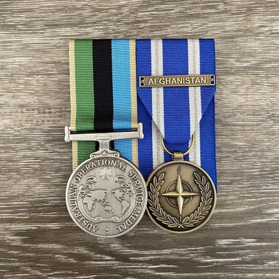 Operational Service Medal - GME / NATO - Afghanistan Medal Duo-Popular Medal Groups-Foxhole Medals