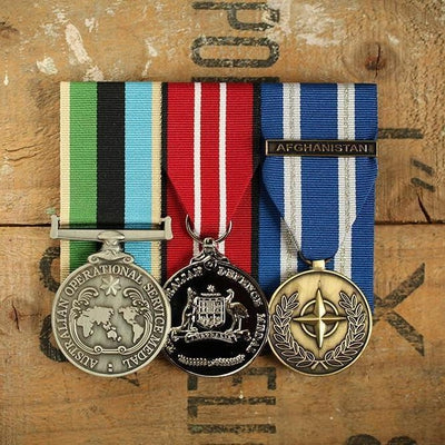 OSM Greater Middle East / NATO Trio-Popular Medal Groups-Foxhole Medals