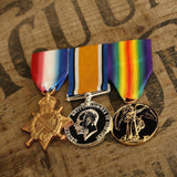 WW1 Trio-Popular Medal Groups-Foxhole Medals