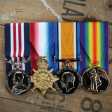 WW1 Trio with Military Medal-Popular Medal Groups-Foxhole Medals