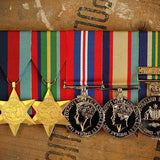 WW2 Pacific / ASM Service Group-Ready to Wear Group-Foxhole Medals
