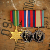WW2 Pacific Trio-Popular Medal Groups-Foxhole Medals