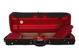 red lightweight violin case with hygrometer