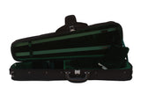 green shaped suspension violin case
