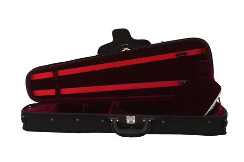 red shaped viola case