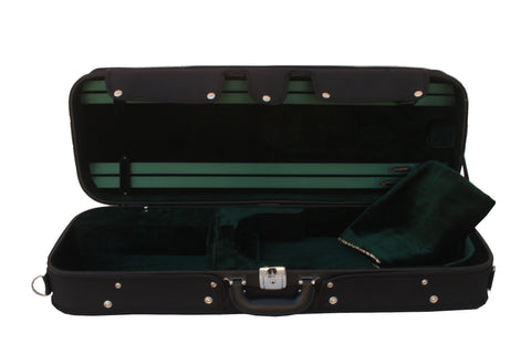 green oblong adjustable viola case
