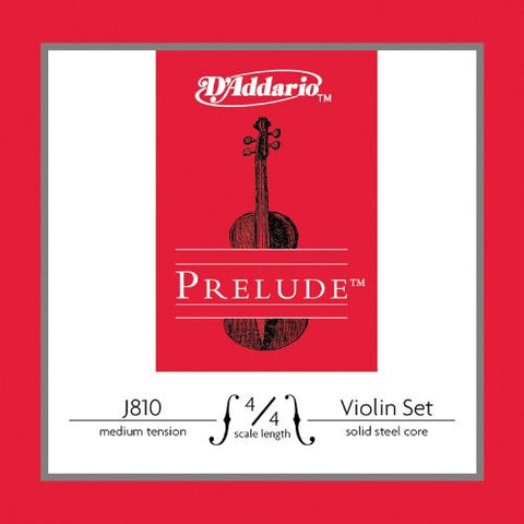 prelude solid steel core violin strings