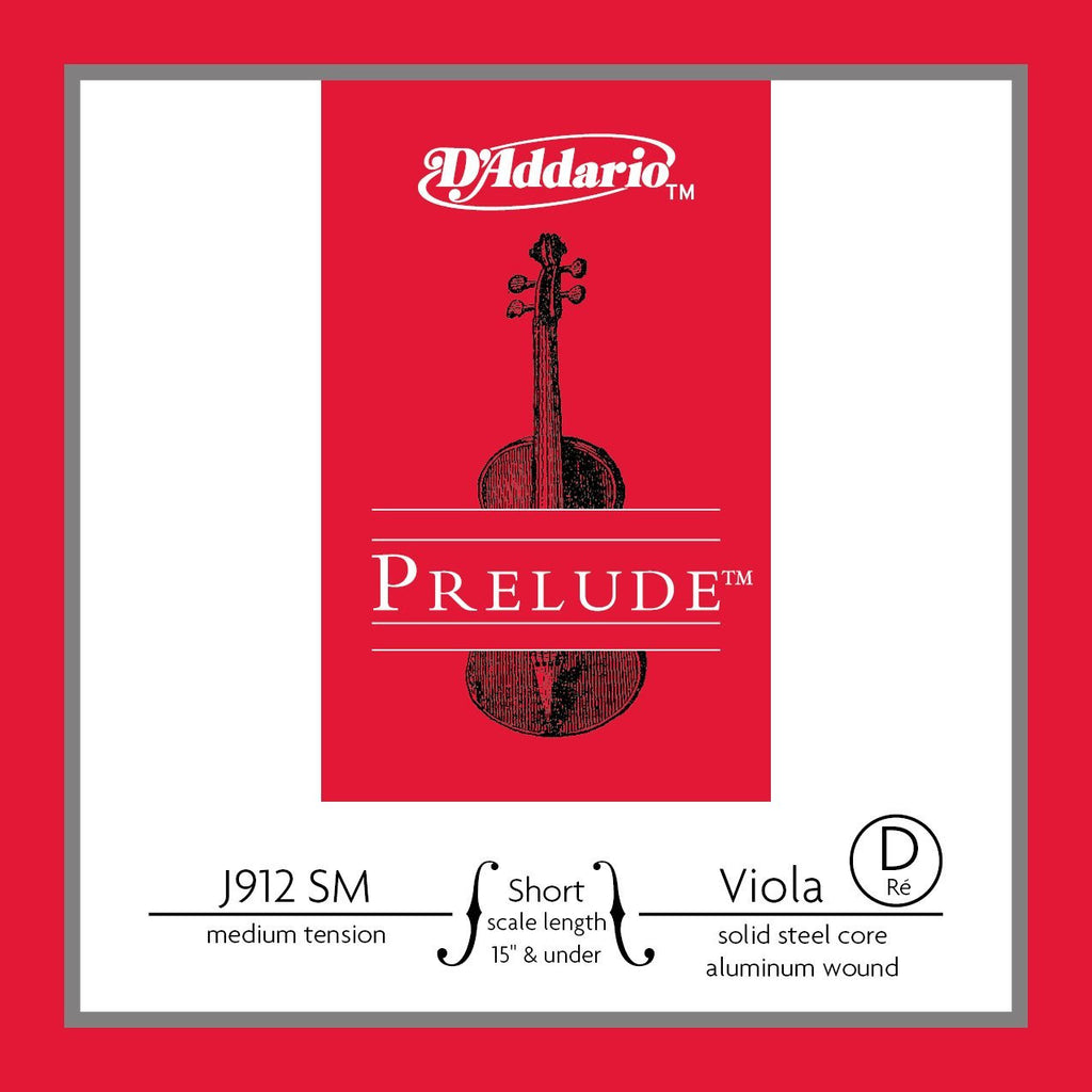 prelude steel core viola strings