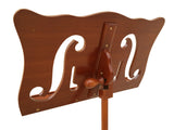 f-hole wooden music stand