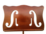 music note wooden stand