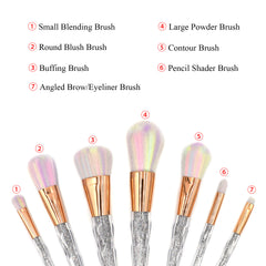 Glistening Makeup Brushes Set