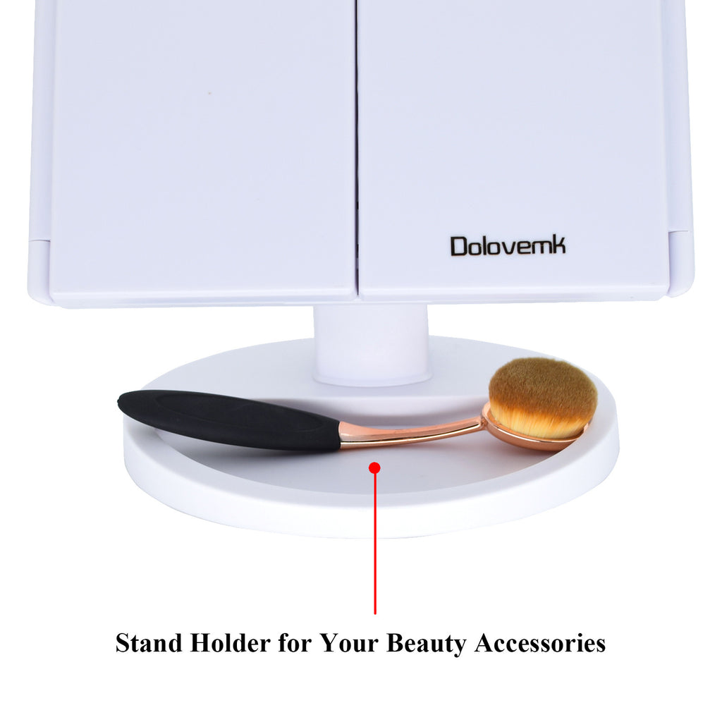 Magnifying Lighted Mirror White - Dolovemk Beauty