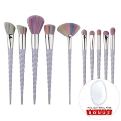 Unicorn Horn Makeup Brushes (10 Pieces)