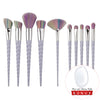 Unicorn Horn Makeup Brushes (10 Pieces) - Dolovemk Beauty