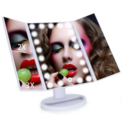 Magnifying Lighted Mirror White