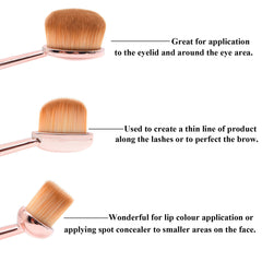 Oval Eye Brushes - Dolovemk Beauty