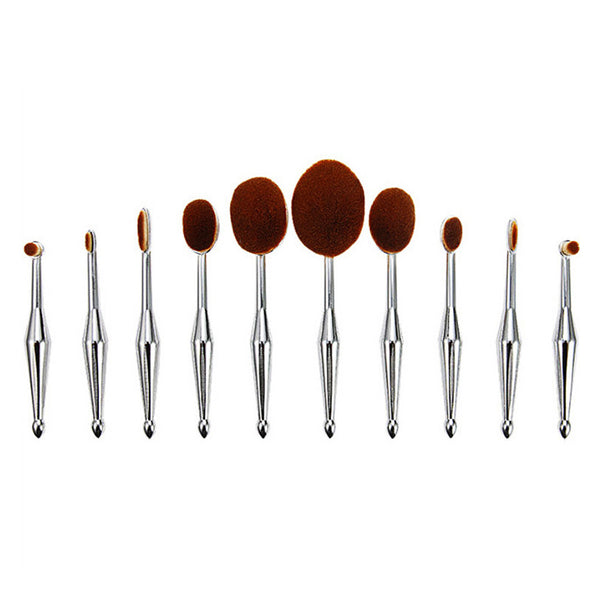 Mermaid Oval Brushes Set Silver
