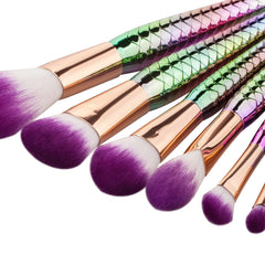 Mermaid Brushes 7 Pieces - Dolovemk Beauty