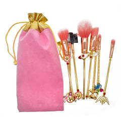 Sakura Magic Girl Makeup Brushes - Dolovemk Beauty