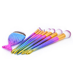 Colorful Mermaid Brushes Set - Dolovemk Beauty