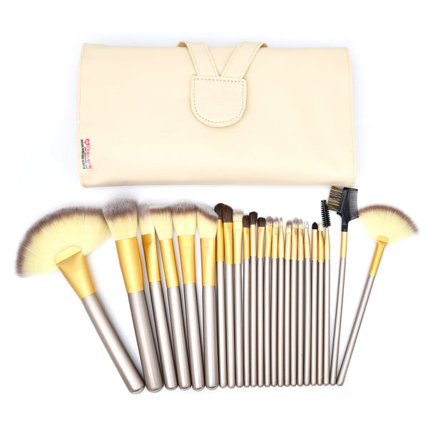 24 Brushes Set + PU Bag - Dolovemk Beauty
