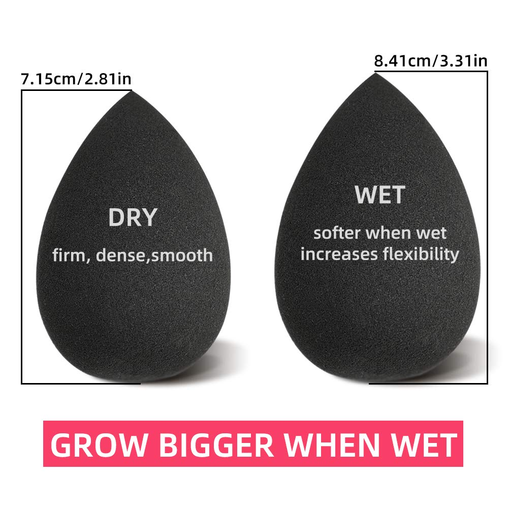 DOLOVEMK Large Makeup Sponges Blender Smooth Foundation Sponge Powder Puff,Teardrop Shape,Soft Beauty Sponge Blender,Swelling Becomes Larger After Wetting,Latex-Free