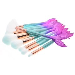 Mermaid Brushes Set - Dolovemk Beauty