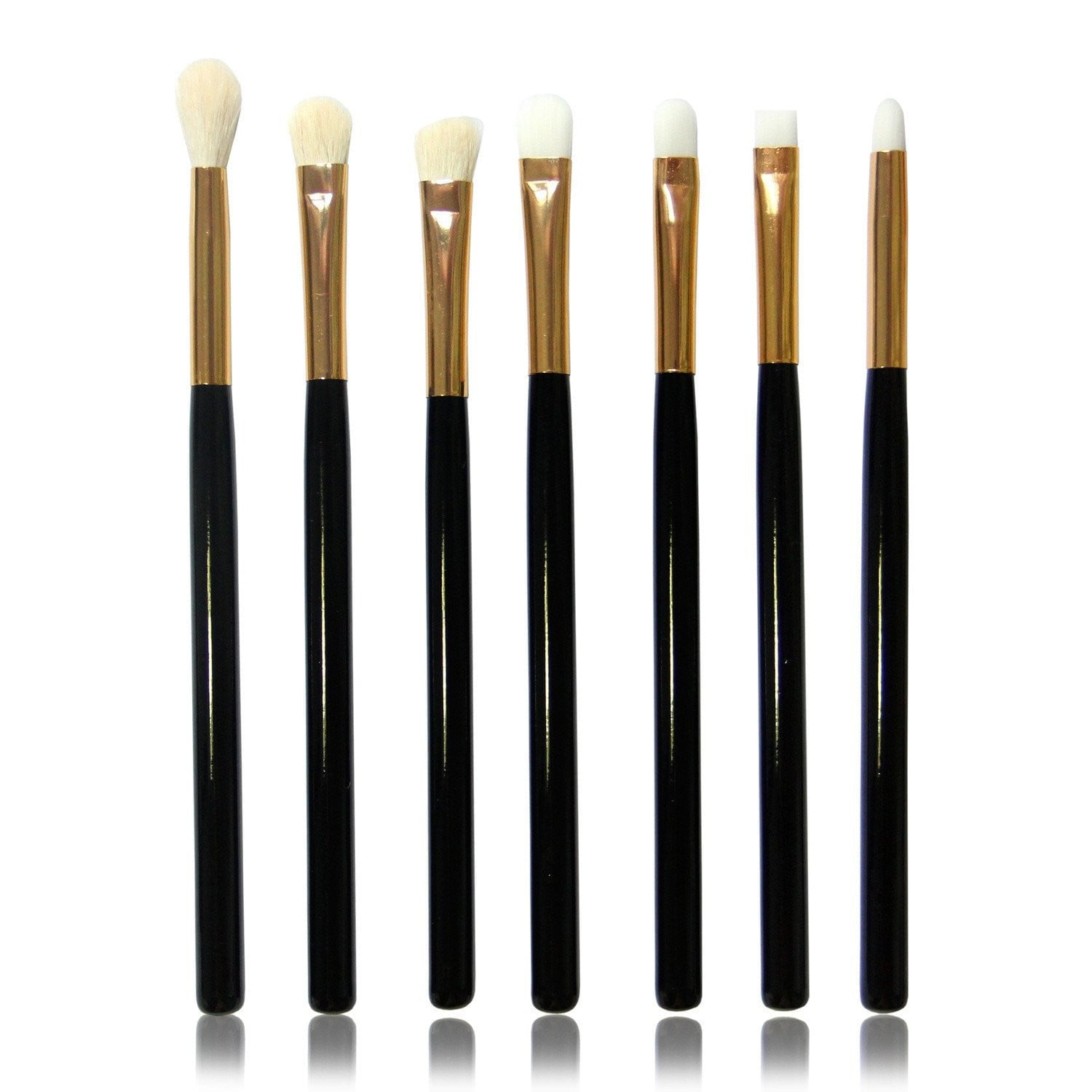 Set of 7, Eyeshadow Makeup Brushes - Dolovemk Beauty