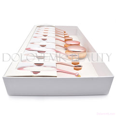 1:1 Pro Oval Makeup Brushes Set - Dolovemk Beauty