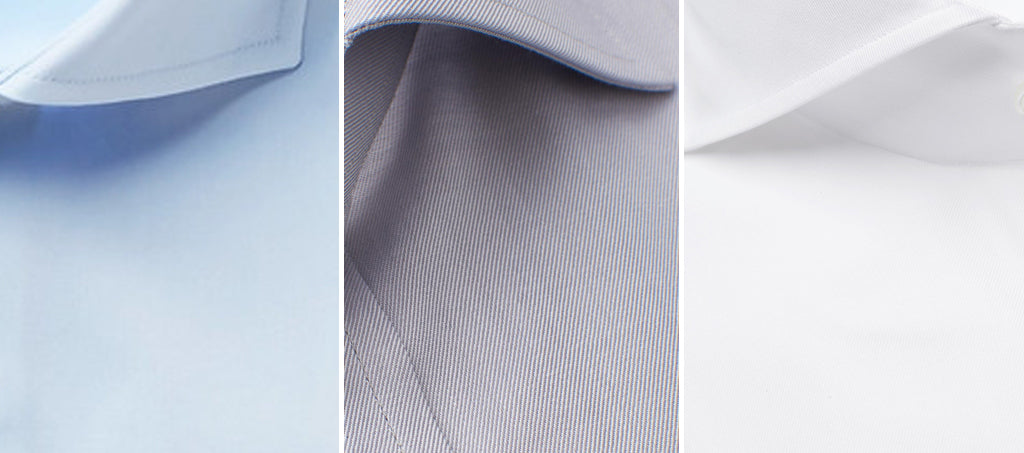 Neutral colours like white, grey, beige and blue can help tone down the colour of the tie.
