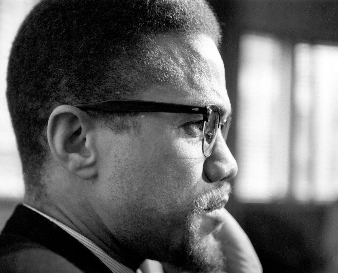 Malcolm X, 1965. Photograph by Michael Ochs