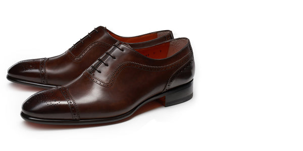 Braun of Hamburg Santoni Brown Monk Strap Shoes