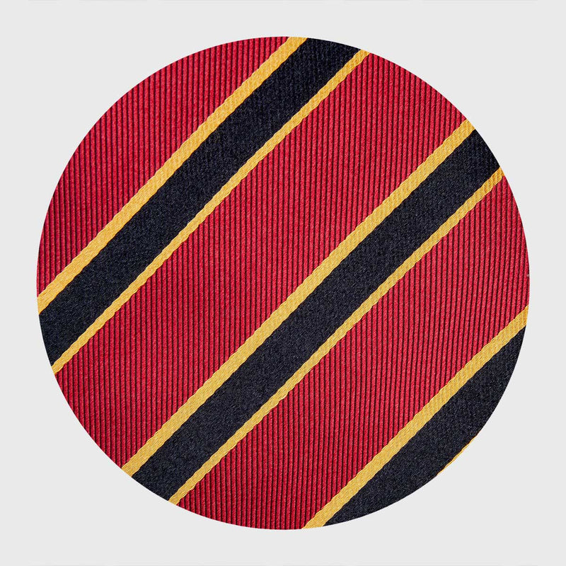 Gold and Black Striped Red Six-Fold