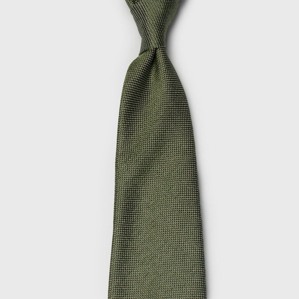 Sage Green Textured Melange Silk Tie