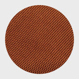 Zoomed-in View of Burnt Orange Grenadine Tie: A Burnt Orange Tie with Beautiful Detail