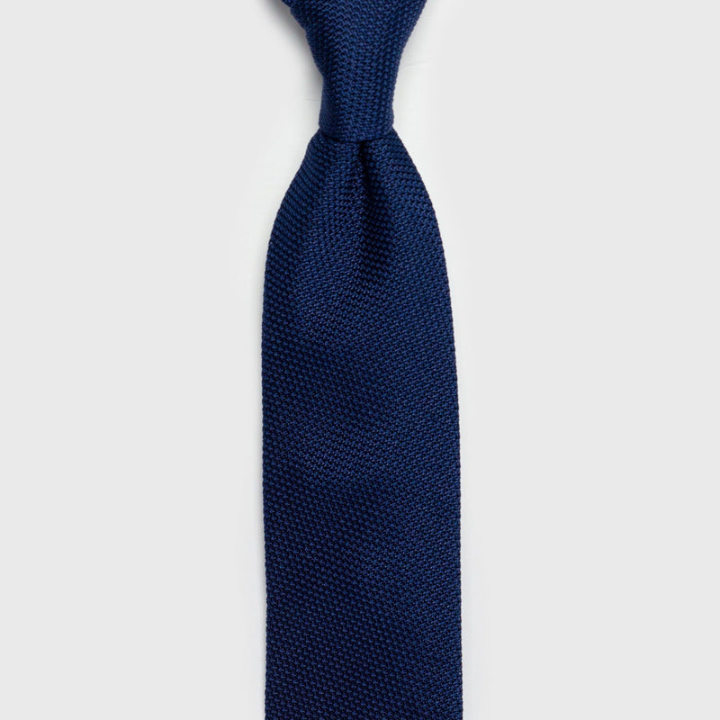 French Blue Grenadine Tie Tie Aklasu