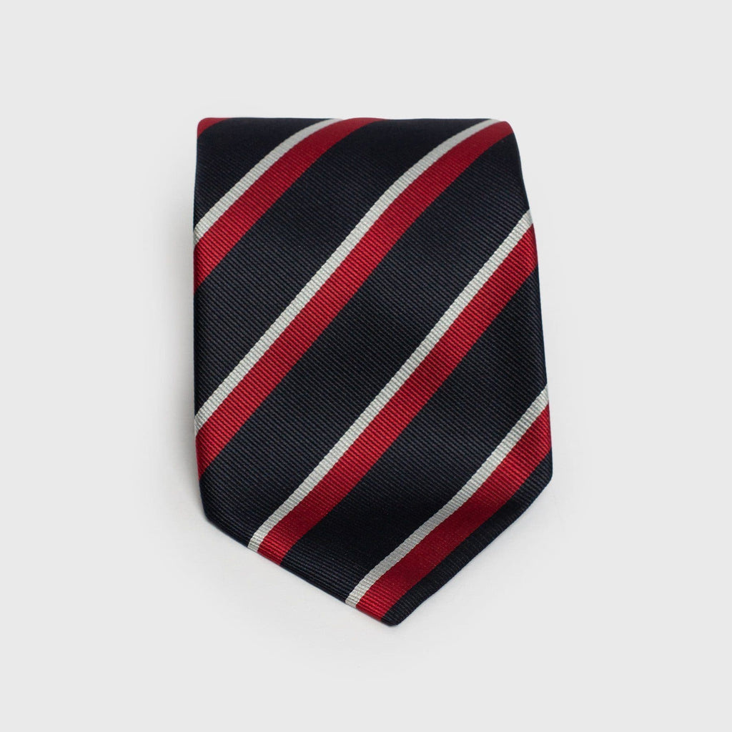 Know Your Ties Anatomy Of A Tie How To Knot With Silk Wide Blue White And Red Striped Six Fold Us 11000 I Want This In Stock
