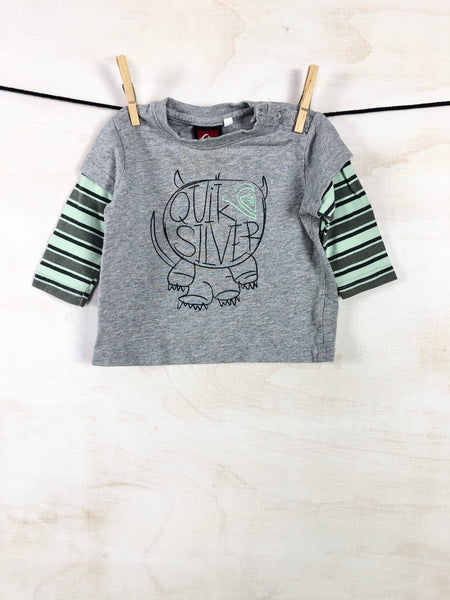 QUICKSILVER • Long-sleeve tee, 12-18M