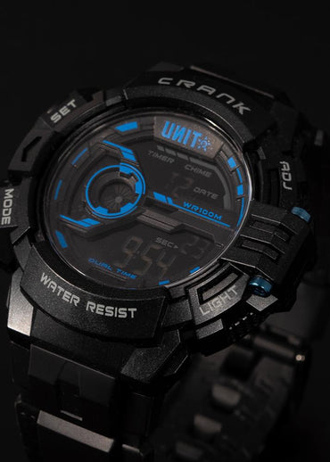 Crank Watch Black Blue