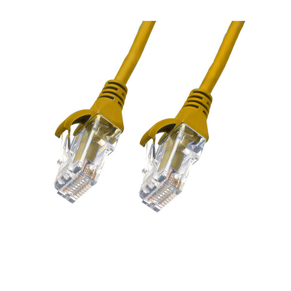 Image of 025M Cat 6 Ultra Thin Lszh Ethernet Network Cables Yellow