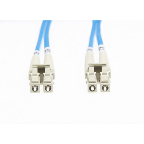 0.5m Lc-Lc Om4 Multimode Fibre Optic Cable - Blue