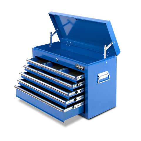 9 Drawers Lockable Chest Cabinet Tool Box Blue TB-9DR-CHEST-BLUE