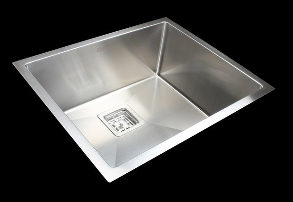 Handmade Stainless Steel Undermount / Topmount Kitchen Sink w/ Waste