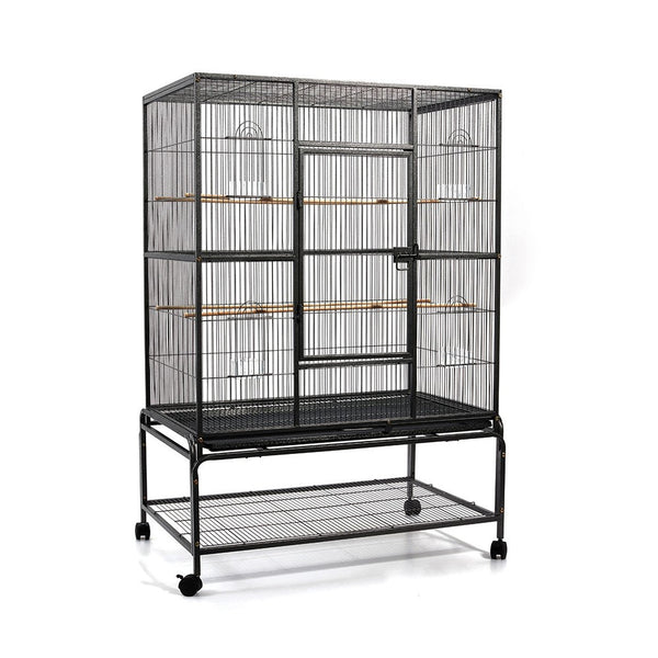 Pet Bird Cage Black Large