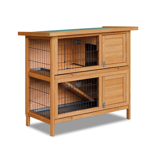 Foldable Ramp Double Storey Rabbit Hutch